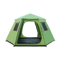 Tentsme Family Instant Tent Waterproof 6 7 Person Easy Setup 2 Doors 4 Windows Green 4 Seasons Summer Winter 1 Room Oxford Cloth 145'x145'x75'