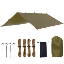 Outdoor Sports Awning Tarp For Camping Portable Shelter Sunshade Tent Waterproof Folding Pu Waterproof With Stake