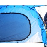 Family Tent Large 2 Rooms 1 Lobby 5 6 7 Person 4 Seasons Blue Camping Whole Family Car Trip 14.5*7.1*4.9 ft