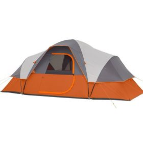Camping Family Tent 6 7 8 Person 2 Rooms 1 Lobby Outdoor Park Car Trip 4 Seasons Orange 15.8*9.1*6.1 ft