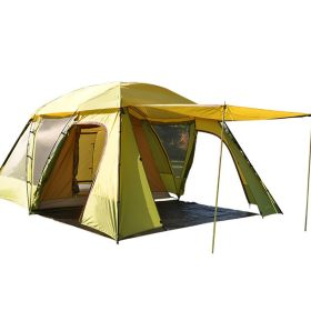 Yellow Family Tent 1 Room 1 Lobby 3 4 5 6 Person Camping Outdoor Park Car Trip 4 Seasons 14.8*10.7*6.9 ft