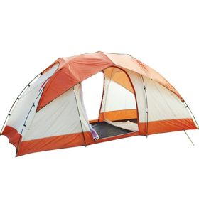 2 Rooms 1 Lobby Family Tent 6 7 8 9 Person Camping Outdoor Park Car Trip 4 Seasons Orange (4.1+4.6+4.1)*6.9*5.9 ft