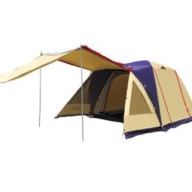 Family Tent Yellow 1 Room 1 Lobby 3 4 5 Person Camping Outdoor Park Car Trip 4 Seasons 14*7.9*6.2 ft