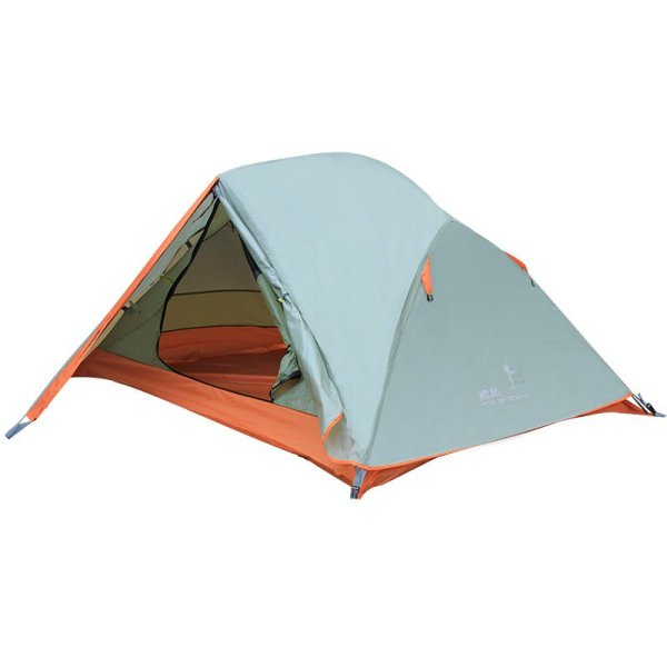 FLYTOP Solo Journey 2 Person Backpacking Tent, Grey & Orange