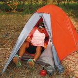 Trackman Solo Journey 1 Person Backpacking Tent, Blue & Orange