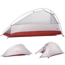 NatureHike 20d Silicon Coated Fabric 1 Person Tent, 2.86 lb