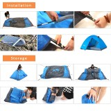Tentsme Portable Lightweight Two Man Tent For Backpacking Travel