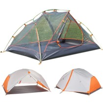 Tentsme Portable 2 Person Backpacking Tent, White&Orange