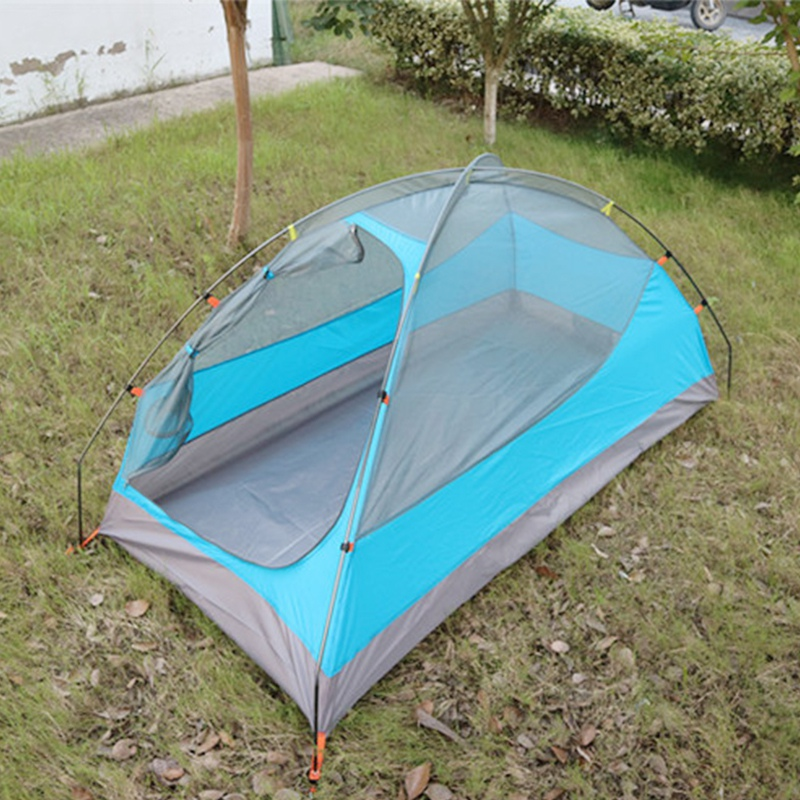 BacMan Portable 1 Person Backpacking Tent, Blue