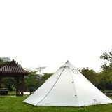 Outdoor Camping Ultralight Canvas Teepee Tent With Stove 20D