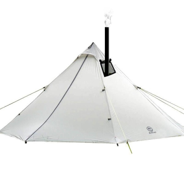 Tentsme Outdoor Camping Lightweight Canvas Teepee Tent With Stove 20D Silicon Coated Nylon, 3.1lb