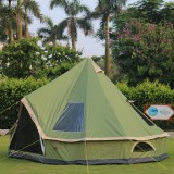 Tentsme 4m/13ft Large Canvas Glamping Bell Tent 300D Oxford Waterproof 4 Season