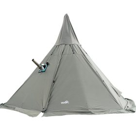 Tentsme Winter Teepee Tent With Wood Stove Jack For Cold Weather For 2 3 4 Person 126x126x94 inch