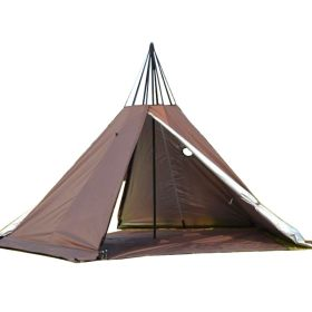 Tentsme 1-2 Person Winter Canvas Teepee Tent With Wood Stove Jack For Cold Weather