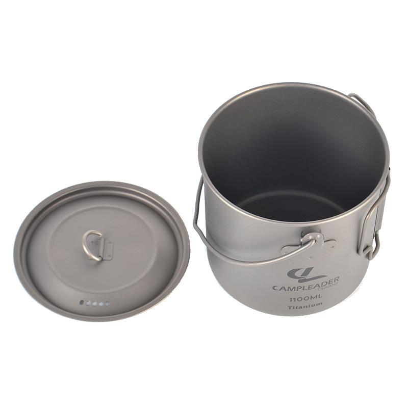 Camping Titanium Cup Multi-Functional Pot Outdoor Travel Mug 1100ml