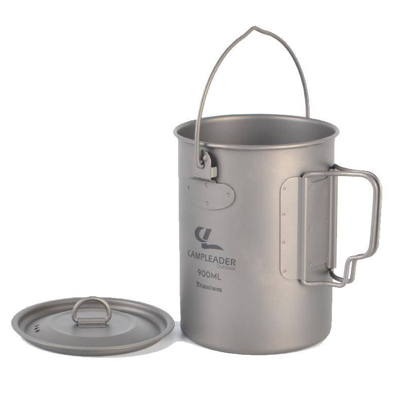 Camping Titanium Cup Multi-Functional Outdoor Travel Mug 900ml