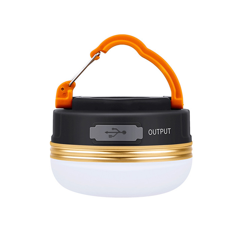 LED Camping Lantern Rechargeable, 300LM, 3 Light Modes, 1800mAh Power Bank, Perfect Mini Flashlight for Hurricane Emergency, Outdoor, Hiking, Home and Car