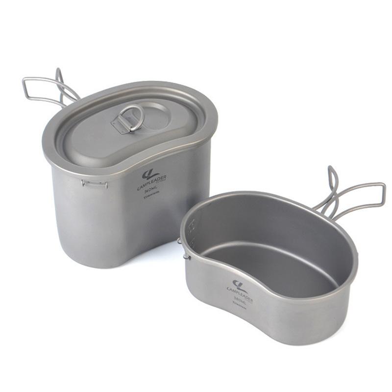Outdoor Ultralight Bowl Camping Pure Titanium Pot