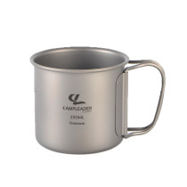 Camping Titanium Cup Multi-Functional Pot Outdoor Travel Mug 250ml