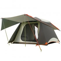 Family Tent For 3 4 5 Person Camping Outdoor Park Car Trip Cabin 2 Doors 4 Seasons Green Khaki