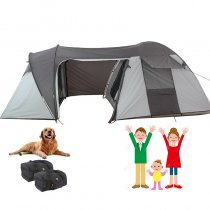Tentsme Family Camping With Dogs 2 3 4 Person Unique Tent With A Small Single Bedroom For Pet