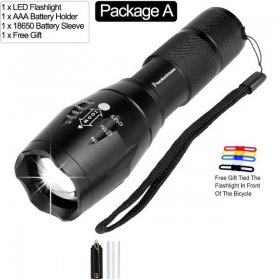 Led flashlight Ultra Bright linterna led 12000 LM torch T6/L2/V6 Zoomable Bicycle Light use AAA 18650 battery Waterproof