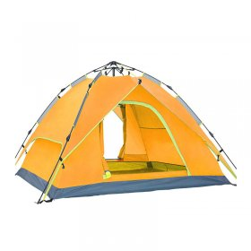 Tentsme Camping Instant Tent 3 4 Person Family Waterproof Easy To Set Up Green Blue Orange 2 Doors 3 4 Season Summer Winter 210D Oxford Cloth 85'x85'x57'
