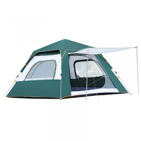 Tentsme Instant Tent Camping 3 4 Person Easy To Set Up Green Blue Orange 2 Doors 3 4 Season Summer Winter Sunny Windy Rainy 85'x85'x55'