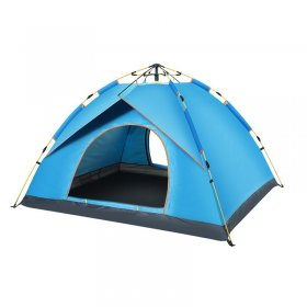 Tentsme Instant Tent For Camping Easy Set Up 1 2 3 4 Person Green Blue Orange 2 Doors 1 Room Sunny Windy 3 Season Summer 85*85*54 in Oxford Cloth
