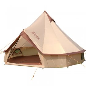 Tentsme 4m/13ft Glamping Large Canvas Bell Tent Waterproof 4 Season 6-8 Person