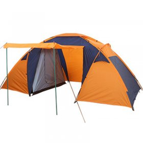 Large Space Family Tent 3 4 5 Person Outdoor Waterproof Orange Car Trip Camping 2 Rooms 1 Lobby 4 Seasons