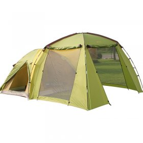 Family Tent 1 Room 1 Large Lobby 3 4 5 6 Person Camping Outdoor Park Car Trip 4 Seasons Yellow 210D Oxford