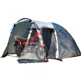 Tentsme Real Motorcycle Camping Tent, (86+43) x 94 x 69 inch