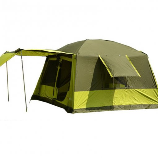 4 Rooms Family Tent Large Space Go Camping Park Car Trip 7 8 9 10 11 Person Cabin Green 4 Seasons Waterproof