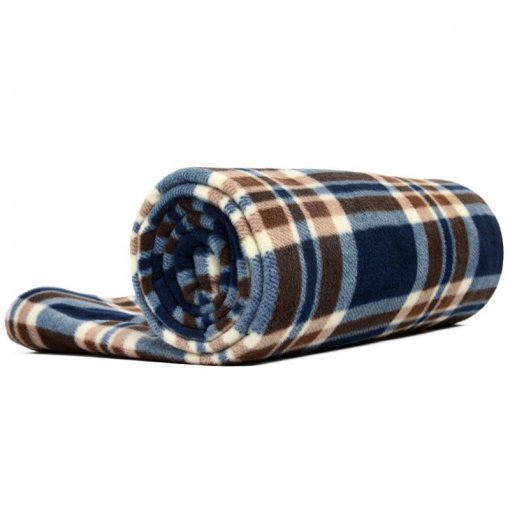 Tentsme Envelope Tartan Fleece Sleeping Bag Liners For Camping And Hotel, 73x32 inch, 24.7 oz