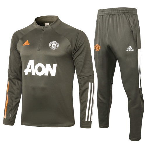 Manchester United Training Jersey Suit 20/21 Green