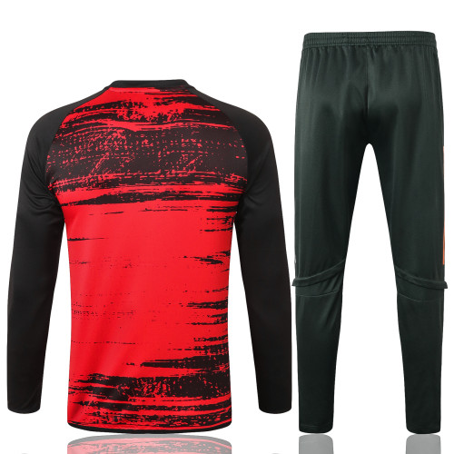 Manchester United Training Jersey Suit 20/21 Red Black