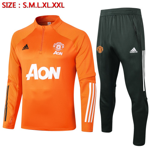 Manchester United Training Jersey Suit 20/21 Orange