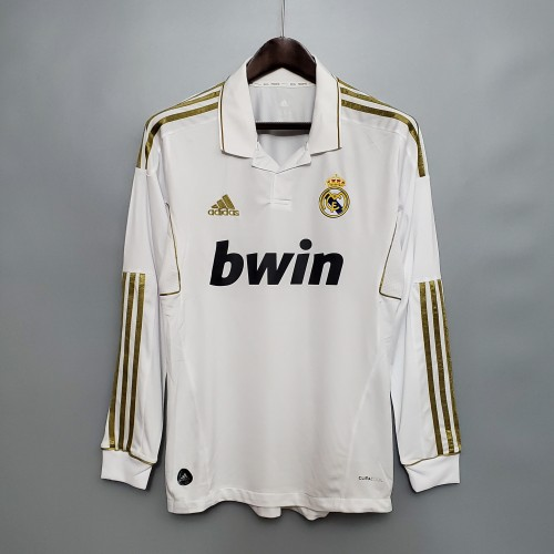 Real Madrid Home Retro Long Sleeves Jersey 11/12