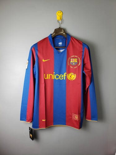 Barcelona Home Retro Long Sleeves Jersey 07/08