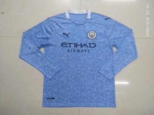 Manchester City Home Man Long Sleeve Jersey 20/21