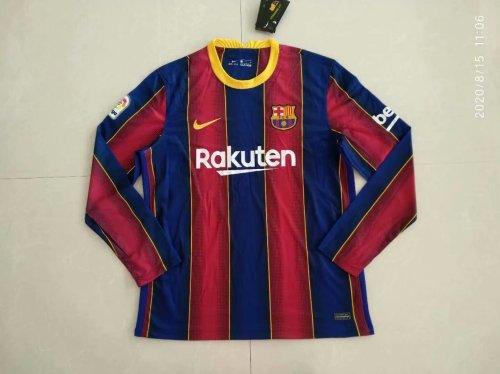 Barcelona Home Men Long Sleeves Jersey 20/21