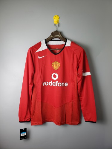 Manchester United Home Retro Long Sleeves Jersey 04/06