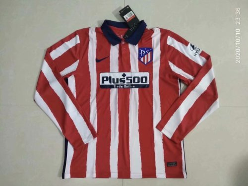 Atletico Madrid Home Man Long Sleeve Jersey 20/21