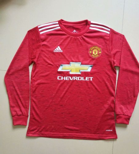 Manchester United Home Man Long Sleeve Jersey 20/21