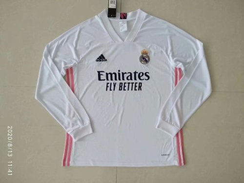 Real Madrid Home Man Long Sleeve Jersey 20/21