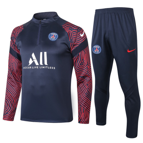 Paris Saint Germain Training Jersey Suit 20/21 Blue