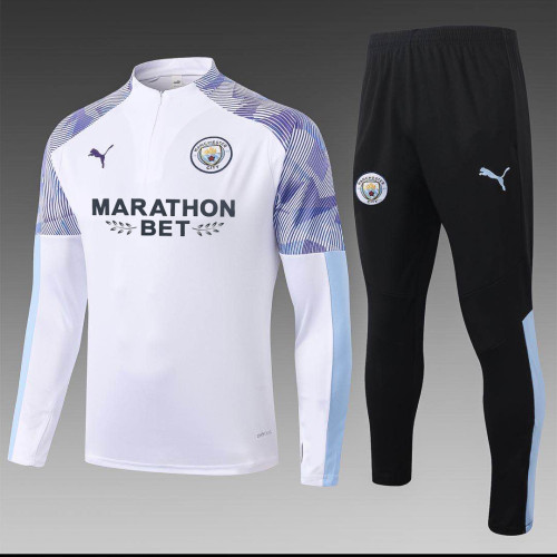 Manchester City Training Jersey Suit 20/21 White