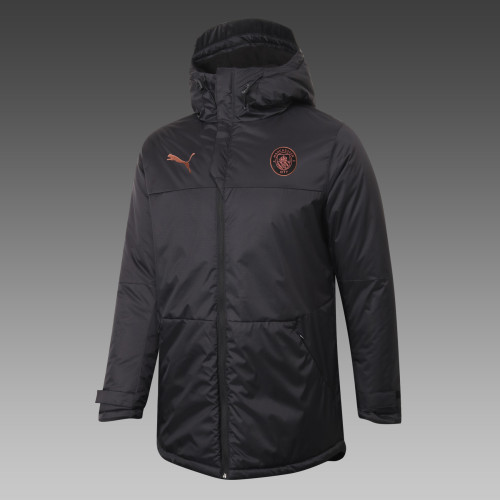 Manchester City Down Cotton Jacket 20/21 Black