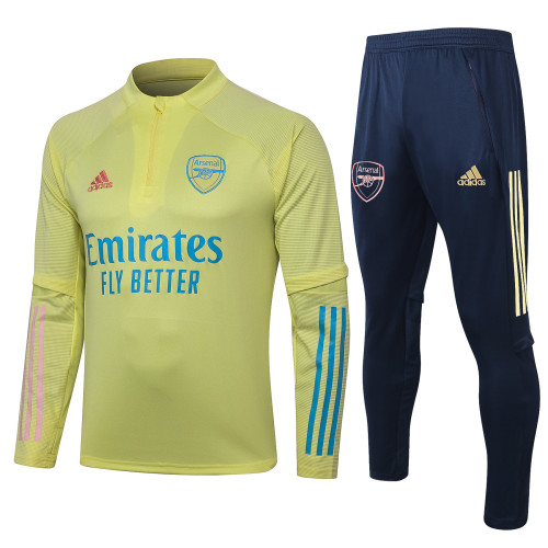 Arsenal Training Jersey Suit 20/21 Yellow